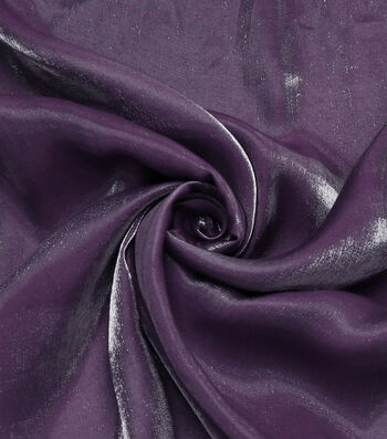 "The Witching Hour Halloween Metallic Shine Fabric 58""-Purple"