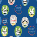 Snuggle Flannel Fabric -Hipster Bunnies