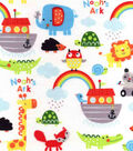 Snuggle Flannel Fabric 42\u0022-Noah\u0027s Ark