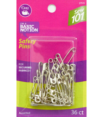 Dritz Sewing 101 Safety Pins 36pcs