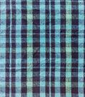 Anti-Pill Plush Fleece Fabric-Lauren Blue Green Plaid