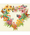 Wildflower Wreath Counted Cross Stitch Kit 14 Count