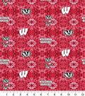 University of Wisconsin Badgers Flannel Fabric-Tie Dye