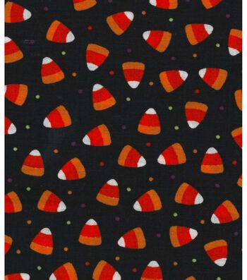 Holiday Showcase Halloween Cotton Fabric -Candy Corn Dot