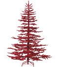 Christmas 7\u0027 Flocked Pine Tree on Metal Stand