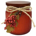 Simply Autumn 4\u0027\u0027x4.25\u0027\u0027 Pumpkin Pie Jar Candle with Berries-Orange