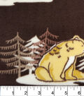 Anti-Pill Fleece Fabric -Winter Woodland Animals