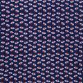 Novelty Cotton Fabric-Fox Heads Navy