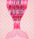 Fleece No Sew Throw 48\u0022-Even Mermaids Need Sleep