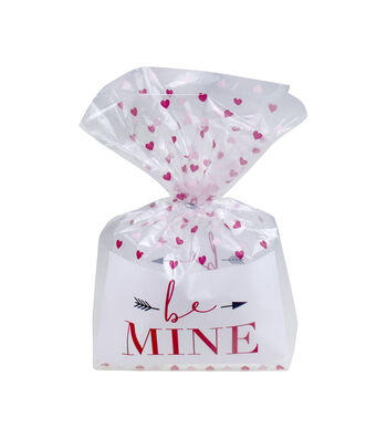 Valentine's Day Cellophane Printed Treat Bag-Be Mine