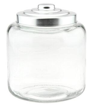 9in Glass Jar Plntr