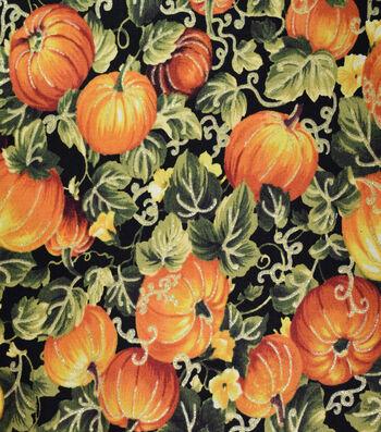 "Harvest Cotton Fabric 44""-Pumpkin Patch"