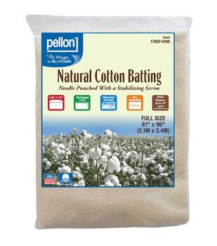 """Pellon Nature's Touch Cotton Batting 81""""x96"""""""