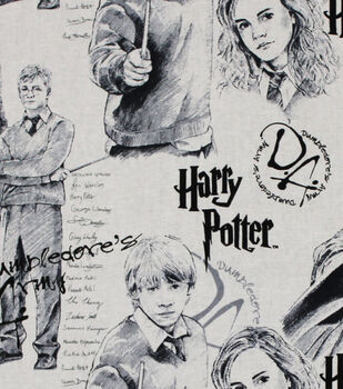 Harry Potter Cotton Fabric -Mystery of Magic