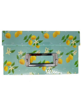 Photo Storage Box-Lemon
