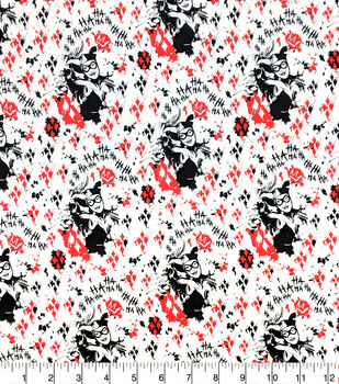 Harley Quinn Cotton Fabric-White Out