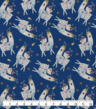 Snuggle Flannel Fabric-Llama Party