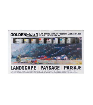 Golden Artist Colors Open Slow-Drying Acrylic Set-Landscape