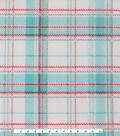 Anti-Pill Fleece Fabric 59\u0027\u0027-Mint & Coral Plaid