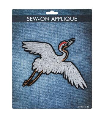 Sew-on Applique-Crane