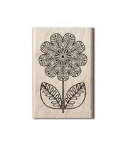 Hampton Art Wood Stamp-Coloring Flower, , hi-res