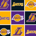 LA Lakers Fleece Fabric -Block