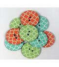 Organic Elements Wood Buttons 1.25\u0022-Quatrefoil