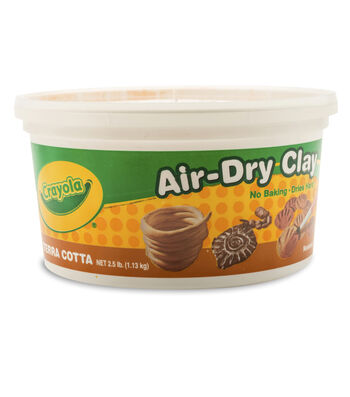 Crayola Air-Dry Clay 2.5lb-Terra-Cotta