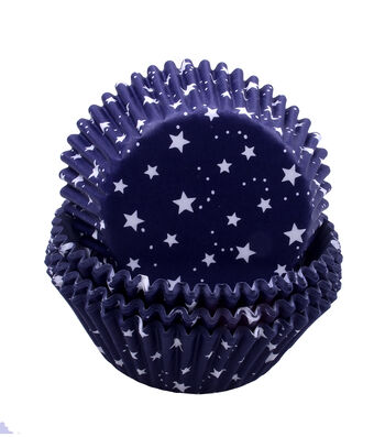 Land of the Free Baking Patriotic 75 pk Cupcake Liners-Stars on Navy
