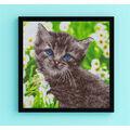 Leisure Arts Diamond Art Intermediate Kit 12\u0027\u0027X12\u0027\u0027-Kitten