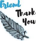 Sizzix Framelits Jen Long Die & Stamp Set-Decorative Feather