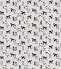 Novelty Cotton Fabric-Gray Country Cows