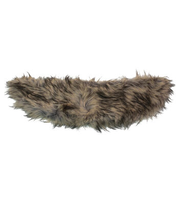 Maker's Halloween Adult Fur Collar-Brown