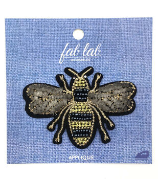 Fab Lab Wearables 3D Bee Iron-on Applique