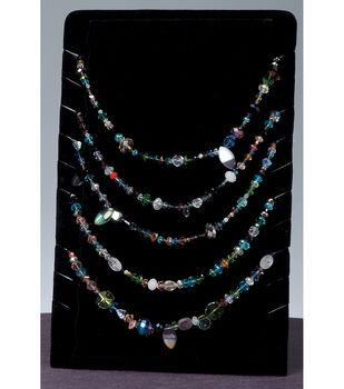 Darice Velvet Necklace Flat Display Stand Black