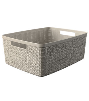 Medium Jute Basket-Off White