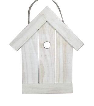 Simply Spring Crafts 10''x12'' Flat Wood Birdhouse