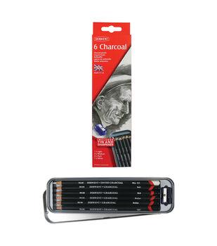 Derwent 6 pk Charcoal Pencils in Tin