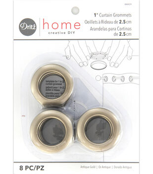 "Dritz Home 1"" Round Grommet Medium 8pcs Antique Gold"