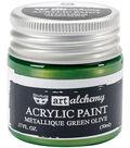 Prima Marketing Art Alchemy 1.7 oz. Acrylic Paint-Metallique Green Olive