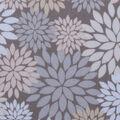 Harvest Cotton Fabric-Cream Packed Mums