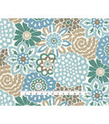 Waverly Sun N\u0027 Shade Outdoor Fabric 54\u0022-Button Blooms Tide Pool