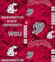 "Washington State University Cougars Fleece Fabric 60""-Digital Camo, , hi-res"