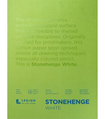 Stonehenge 15-sheet 9''x12'' 90 lbs. Paper Pad -White
