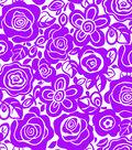 Tutti Fruitti Embellished Basic Fabric Splash Mono Tropical Purple