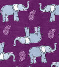 Snuggle Flannel Fabric -Sketched Elephants & Paisley
