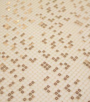 Sew Sweet Metallic Fabric-Champgane Gold Metallic Sequin