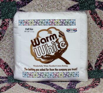 "The Warm Company Warm And White Cotton Batting 90""x96"""