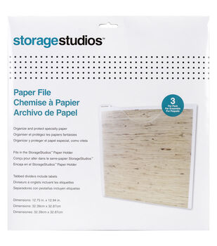 Storage Studios 3 pk Paper Files with Tabbed Dividers & Labels
