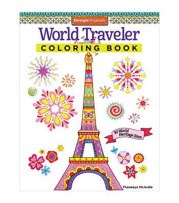 Design Originals World Traveler Coloring Book